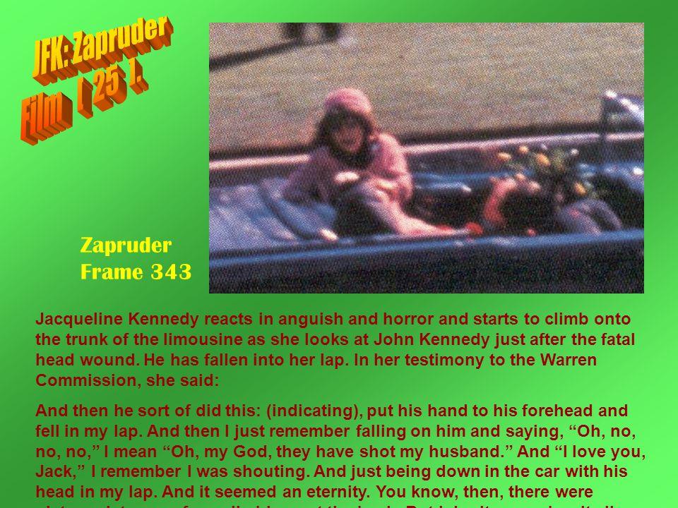 JFK: Zapruder Film [ 25 ]. Zapruder Frame 343